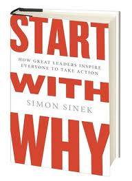 Cover van boek Start with why van Simon Sinek