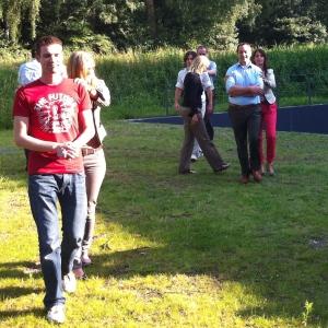 Foto van openingsoefening workshop Boven het maaiveld